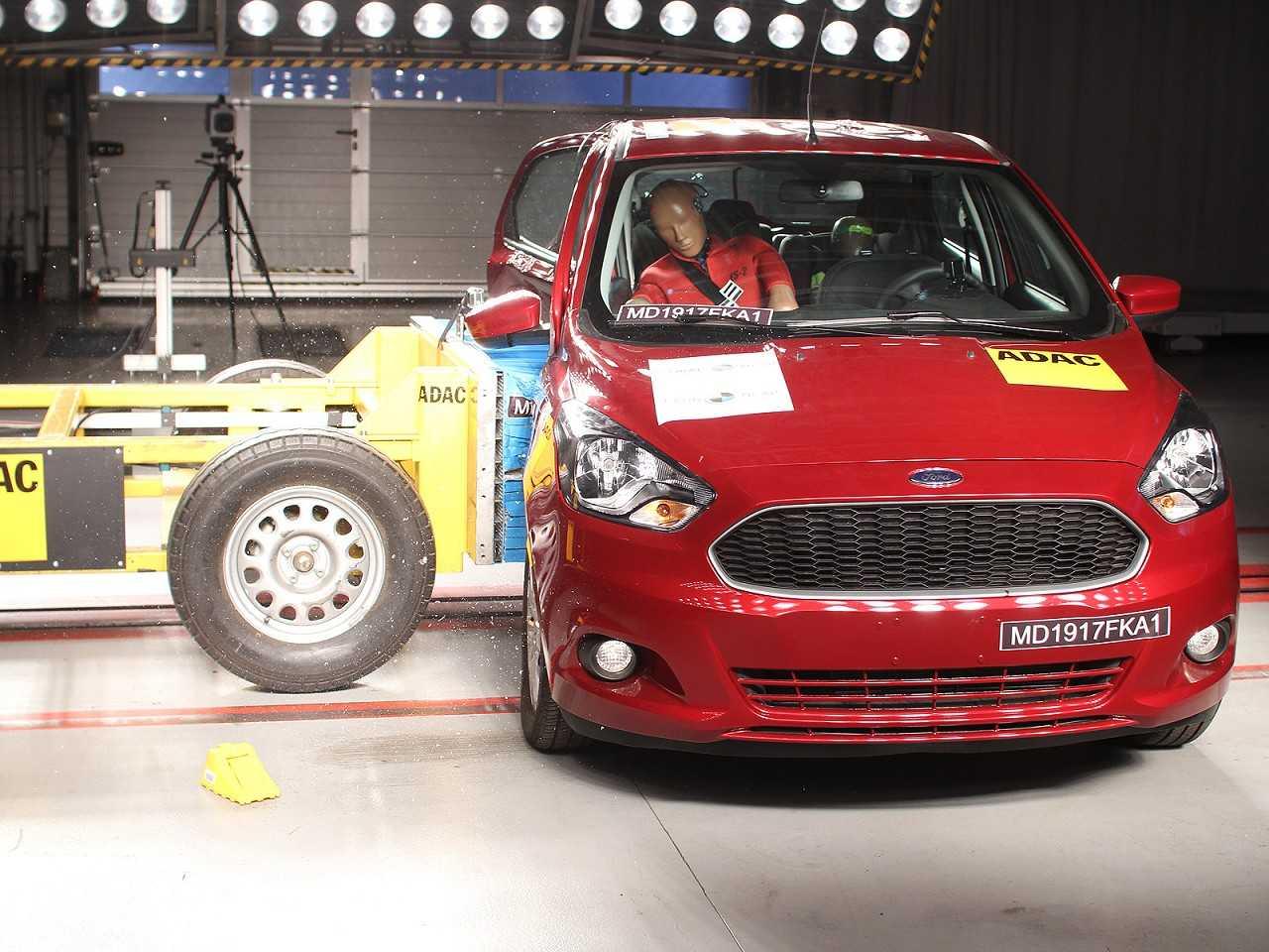 Ensaio do Latin NCAP avaliando o Ford Ka