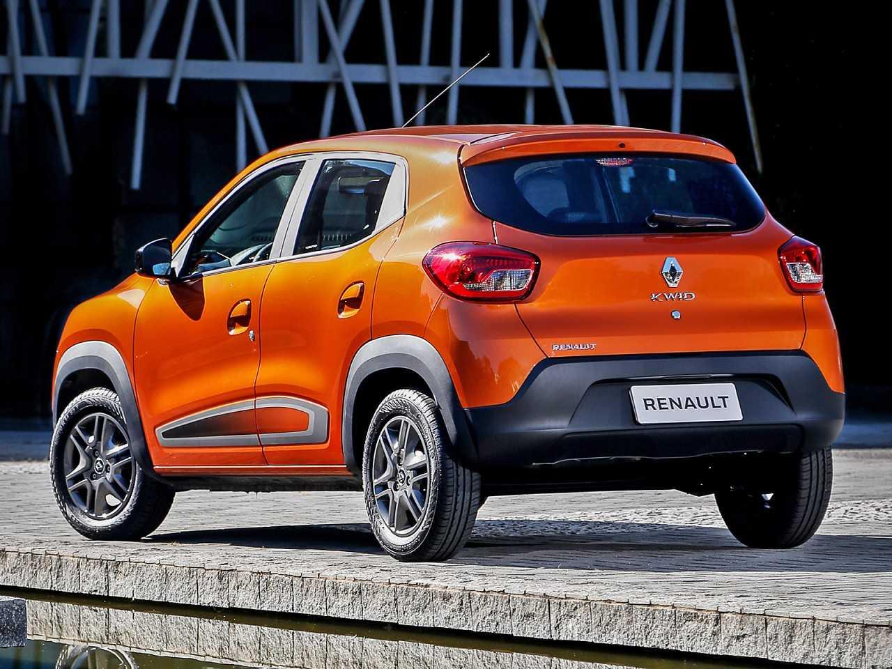 RenaultKwid 2018 - ângulo traseiro