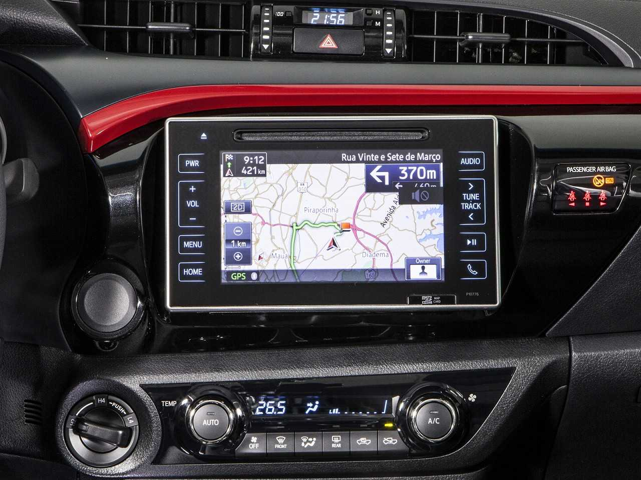 ToyotaHilux 2018 - console central