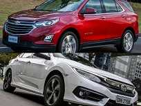 Chevrolet Equinox Premier e Honda Civic Touring