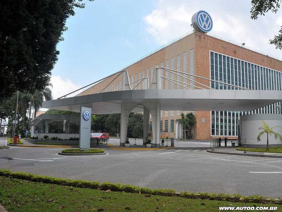 Acima a unidade Anchieta, sede da Volkswagen do Brasil