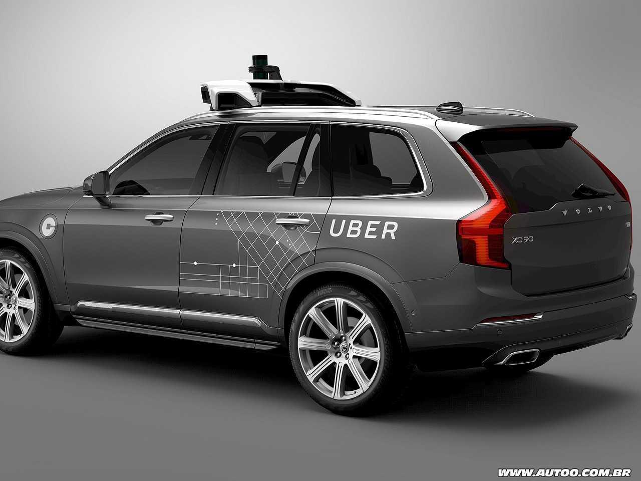 Volvo XC90 adaptado para condução autônoma nível 4 que será usado pela Uber nos EUA