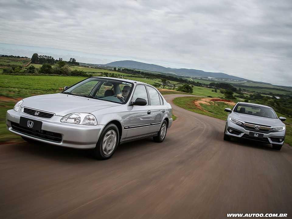 A sexta e a décima gerações do Honda Civic: passado e futuro reunidos na pista