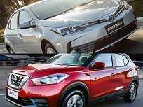 Toyota Corolla e Nissan Kicks