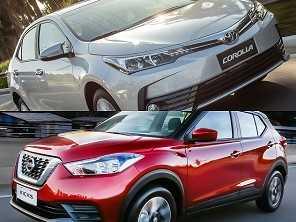 Compra com isenção: Toyota Corolla ou um Nissan Kicks