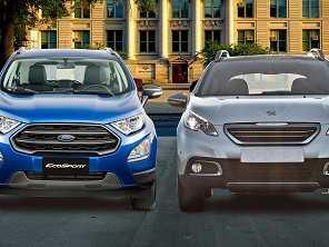 Ford EcoSport ou Peugeot 2008: qual entrega mais pelo seu dinheiro?
