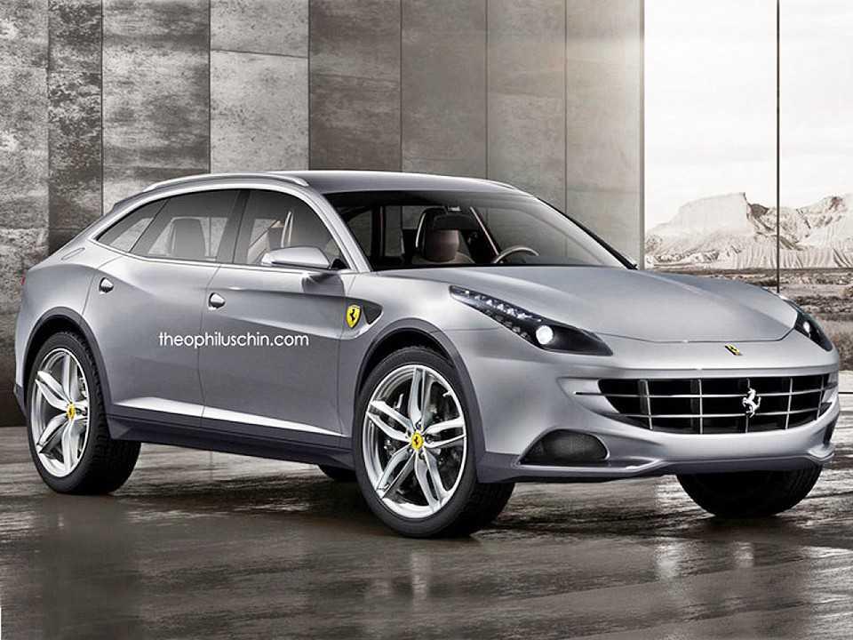 Projeção de como ficaria um SUV da Ferrari: marca já reconheceu que trabalha na ideia