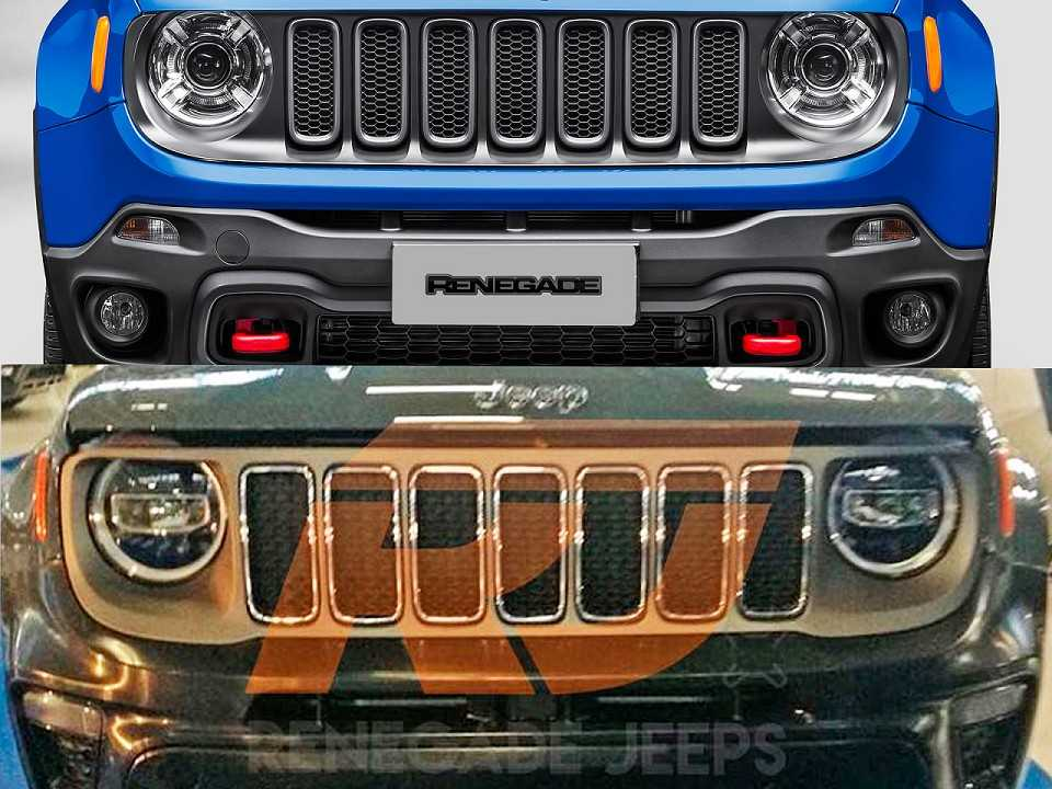 Jeep Renegade 2019 E Flagrado Com Nova Frente Autoo