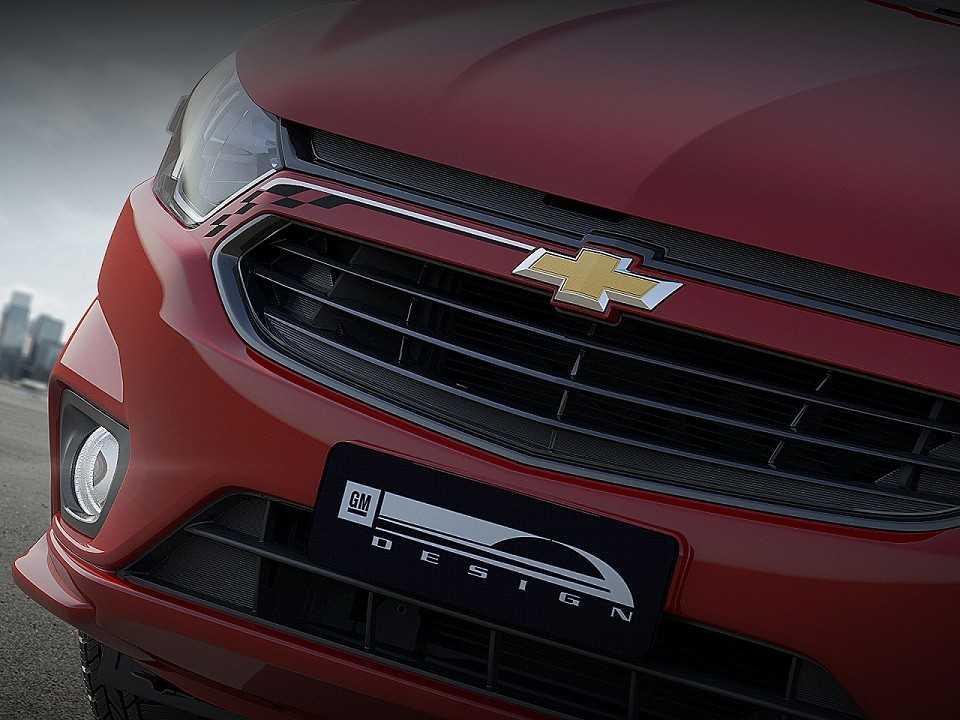 Detalhe da futura versão esportiva do Chevrolet Onix