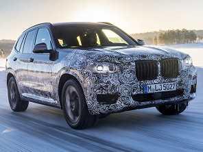 Nova geração do BMW X3 realiza seus testes finais