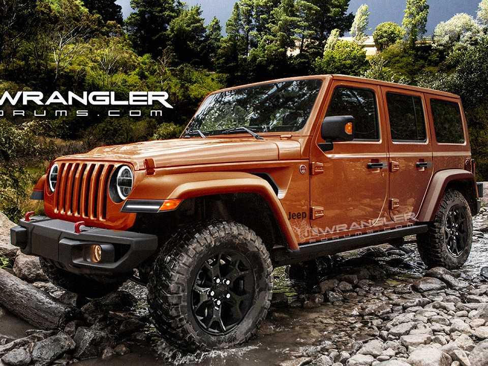 Render do hipotético novo Jeep Wrangler
