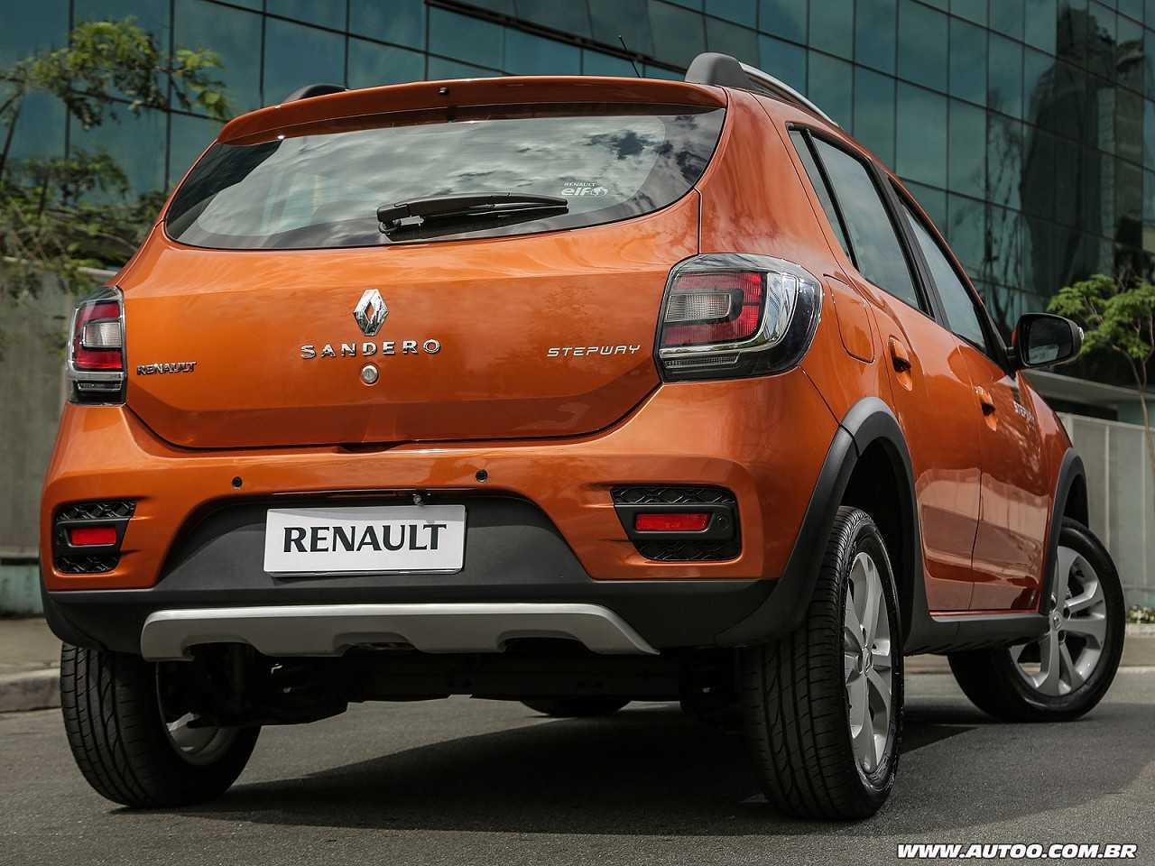 RenaultSandero 2017 - ângulo traseiro