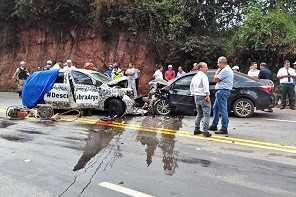 Fiat Argo se envolve em acidente em estrada de Minas Gerais