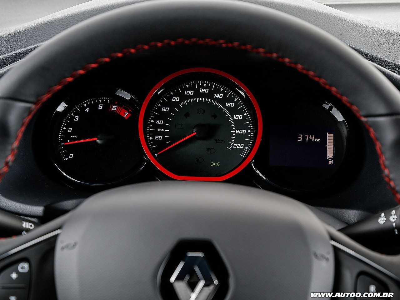 RenaultSandero 2017 - painel de instrumentos