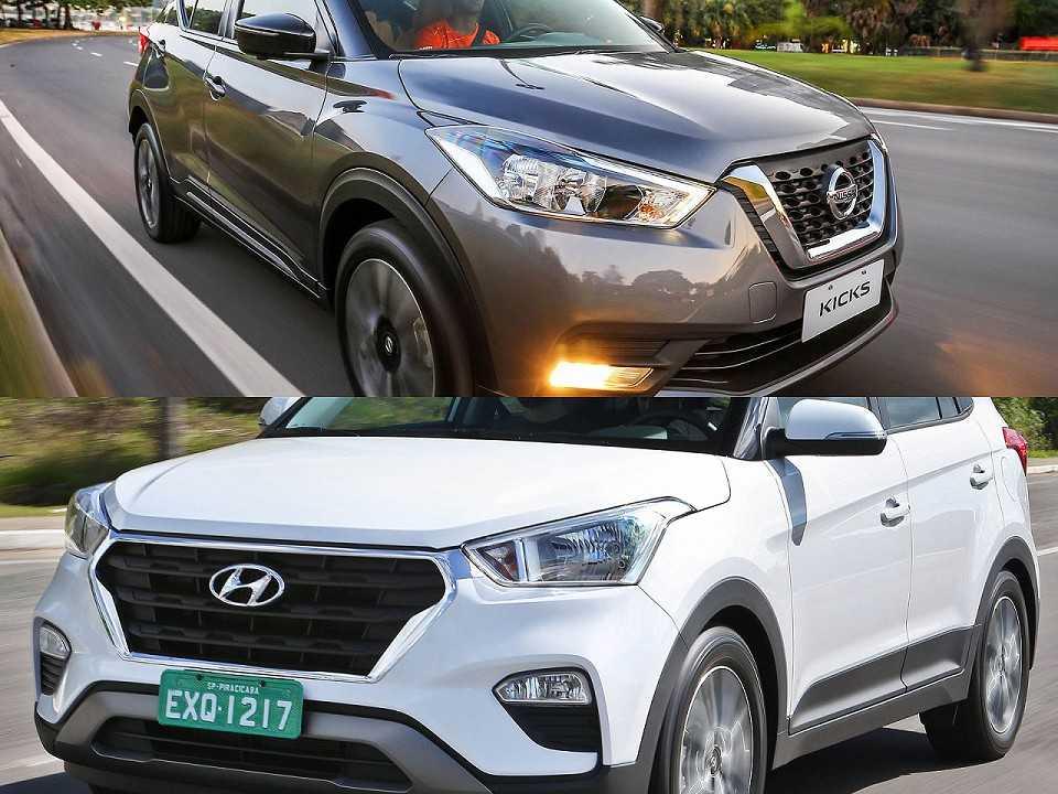 Nissan Kicks e Hyundai Creta na disputa pelo público PCD