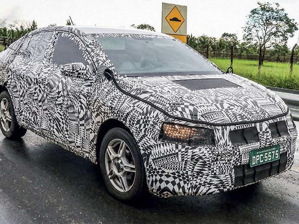 Volkswagen Virtus rodando em testes no Brasil
