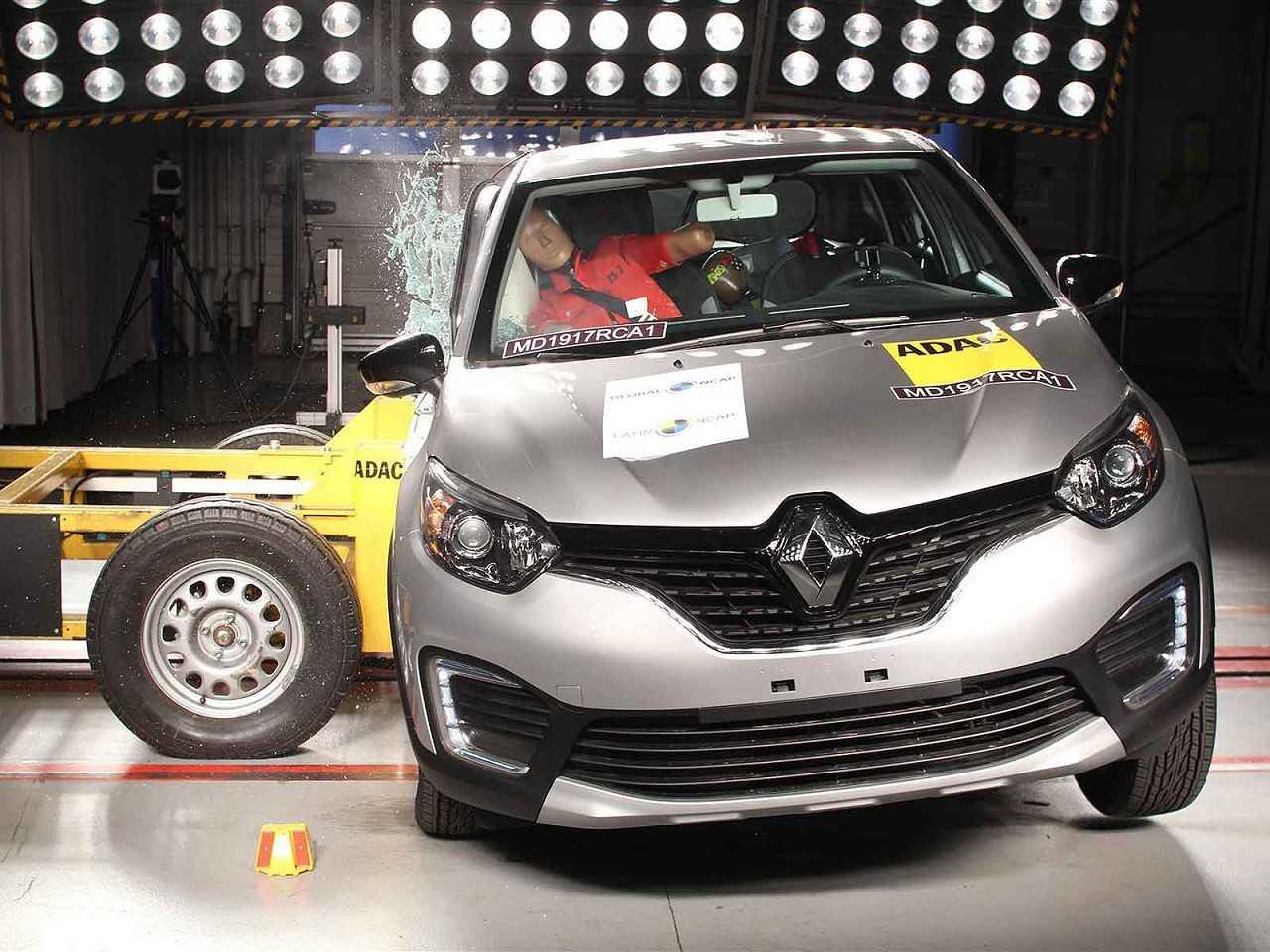 Renault Captur durante testes de colisão realizados pelo Latin NCAP