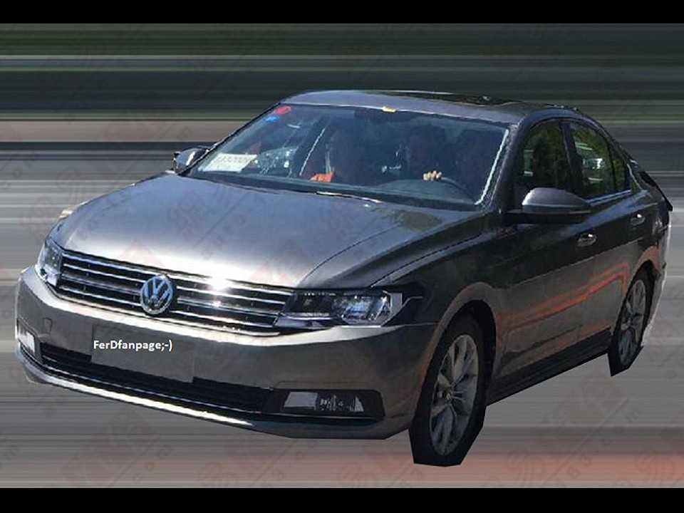Flagra da provável nova geração do Volkswagen Jetta