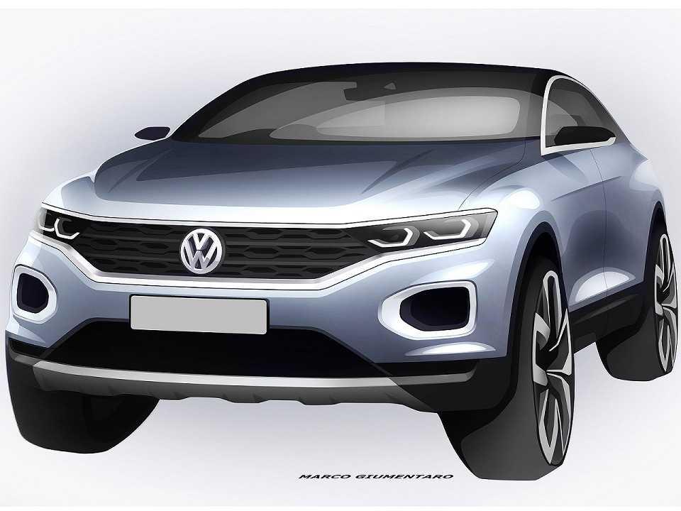 Ilustração antecipando detalhes do futuro Volkswagen T-Roc