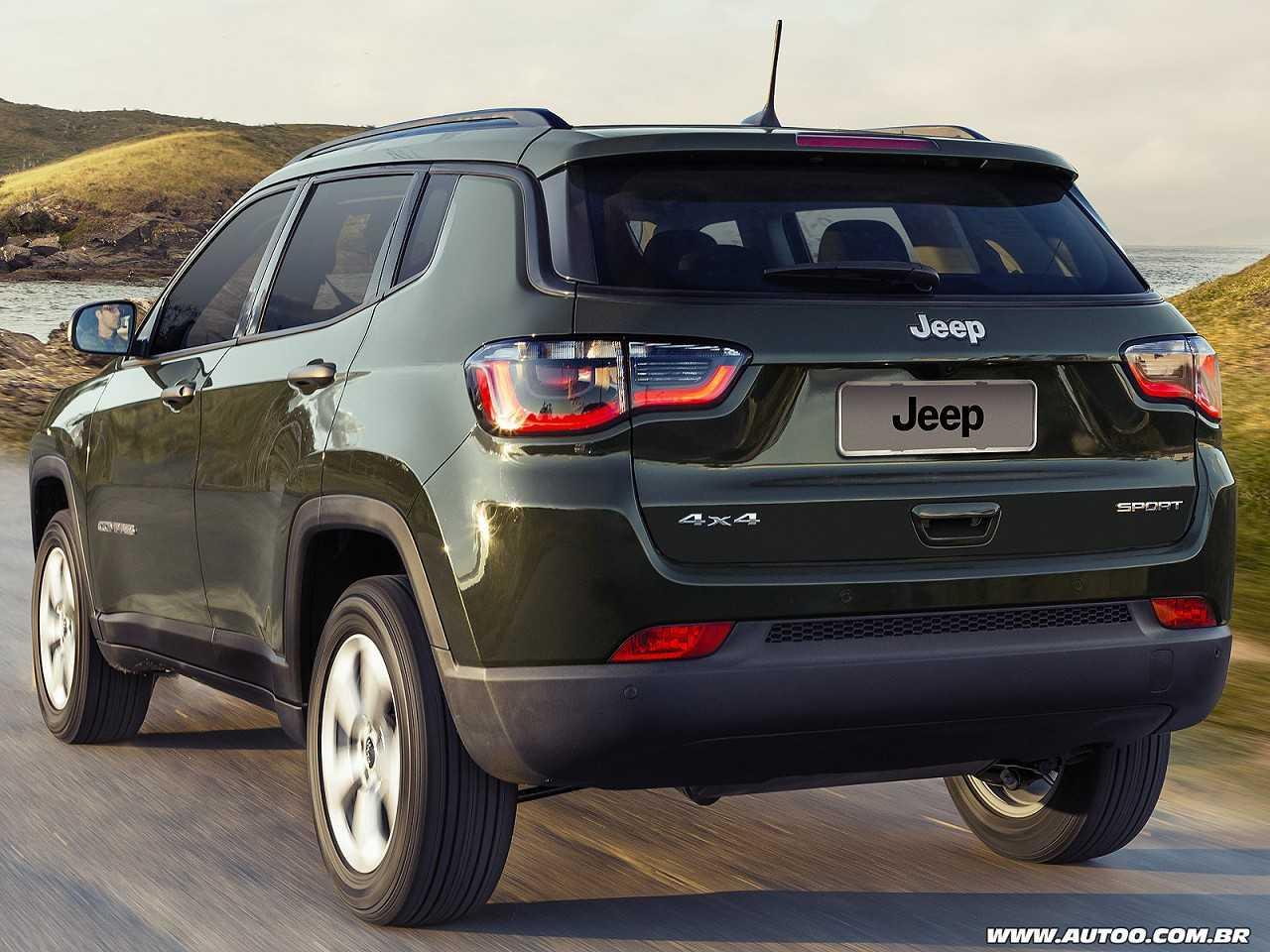 JeepCompass 2018 - ângulo traseiro