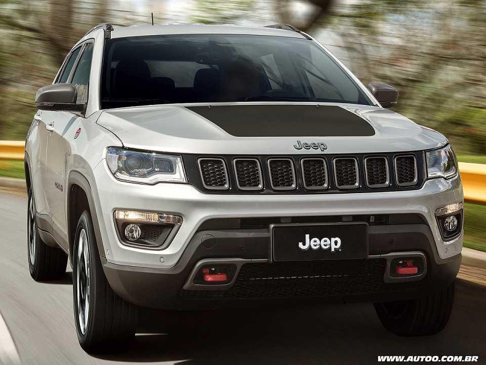 Acima o Jeep Compass em sua versão Trailhawk mais voltada ao uso off-road