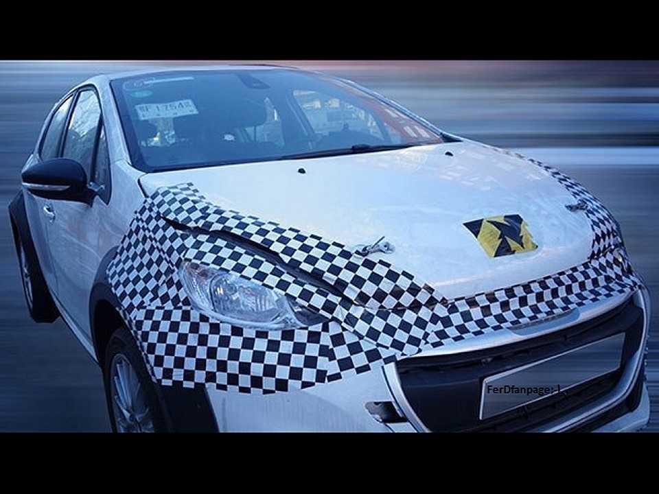 Futuro Peugeot 1008 em desenvolvimento usando um 208 como base