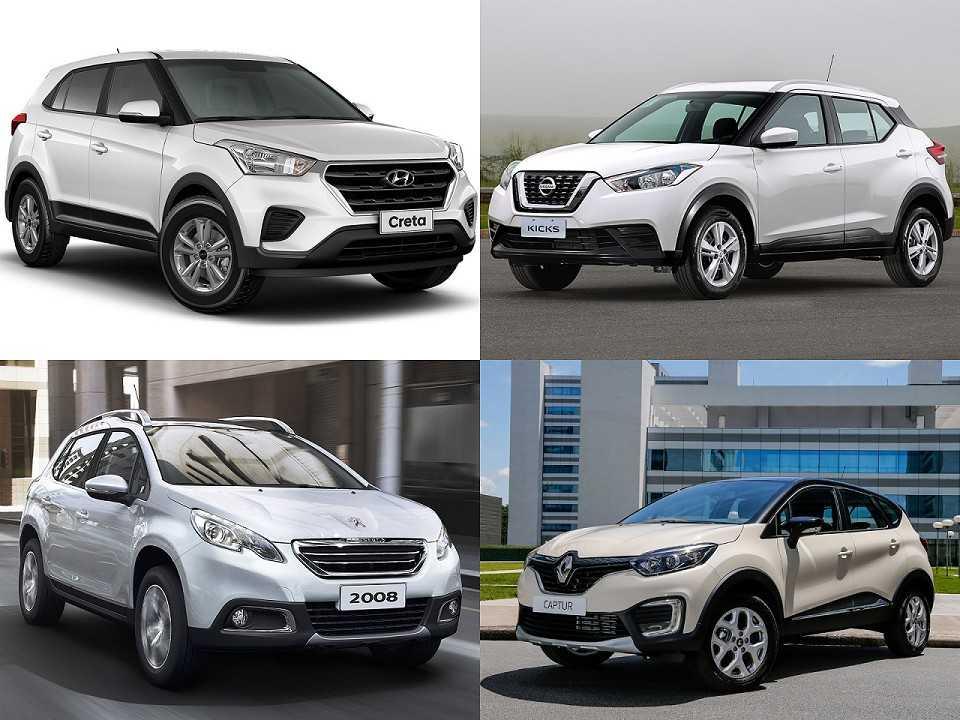 Alguns exemplos de SUVs com versões para a compra com isenção