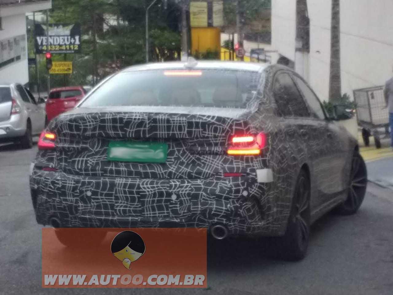 Flagra do novo BMW Série 3 em testes no Brasil realizado pela equipe Autoo