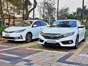 Civic ou Corolla, afinal qual sedã oferece mais pelo que custa?