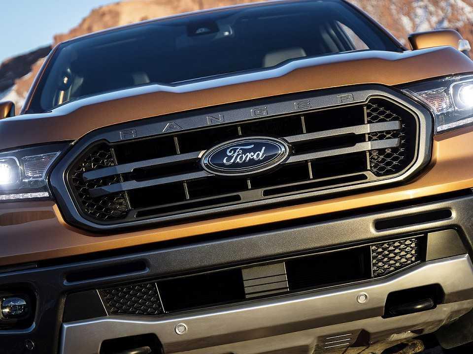 Acima detalhe da Ford Ranger 2019 comercializada nos EUA