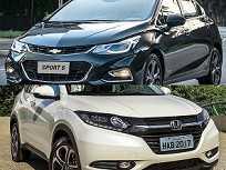 Chevrolet Cruze Sport6 e Honda HR-V