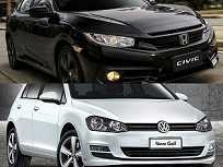 Honda Civic Sport e Volkswagen Golf