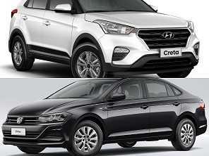 Compra com isenção: VW Virtus ou um Hyundai Creta?