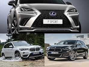 SUVs premium: Lexus NX, BMW X1 ou um BMW X2?