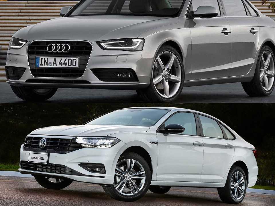 Audi A4 2016 e Volkswagen Jetta R-Line