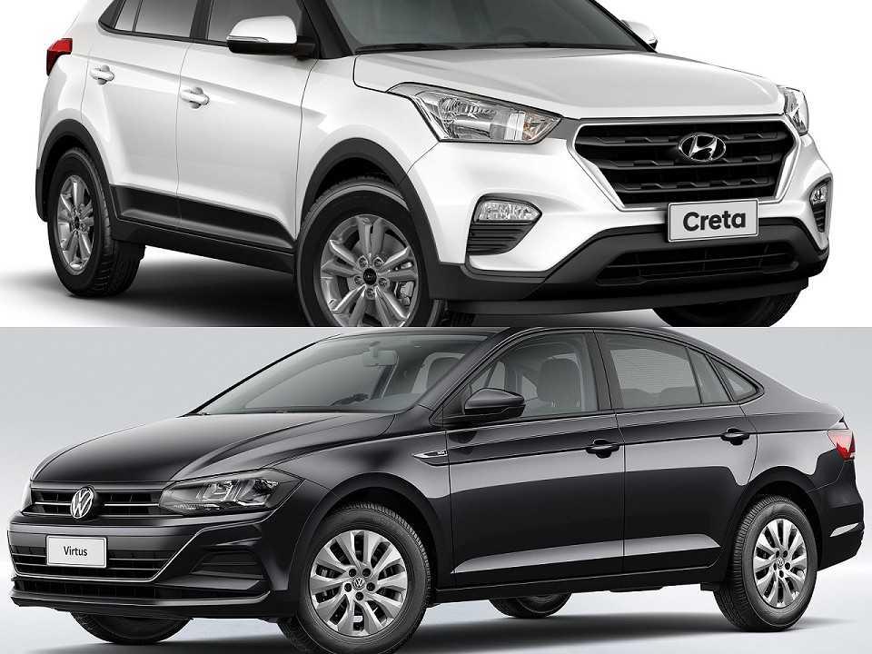 Hyundai Creta e Volkswagen Virtus