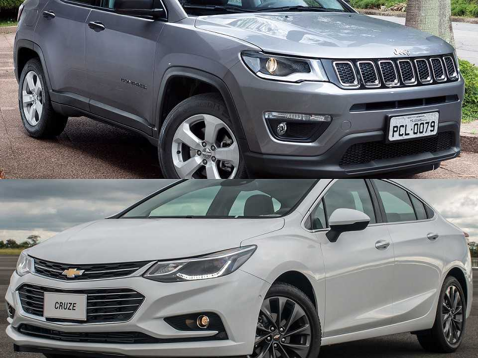 Jeep Compass e Chevrolet Cruze