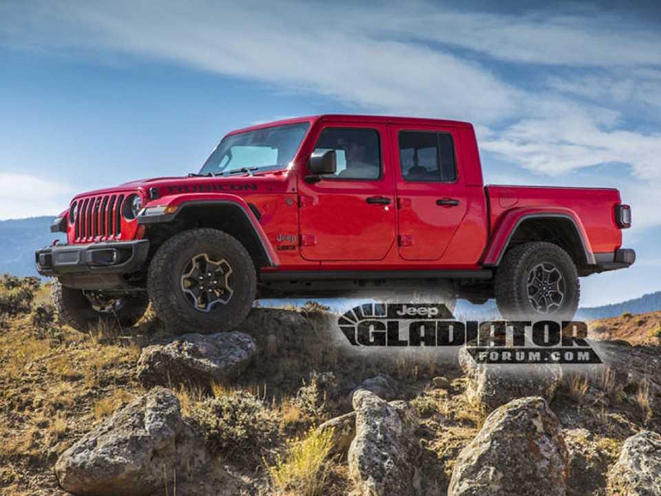 Acima a imagem oficial da Jeep Gladiator 2020 que vazou do site de imprensa da marca
