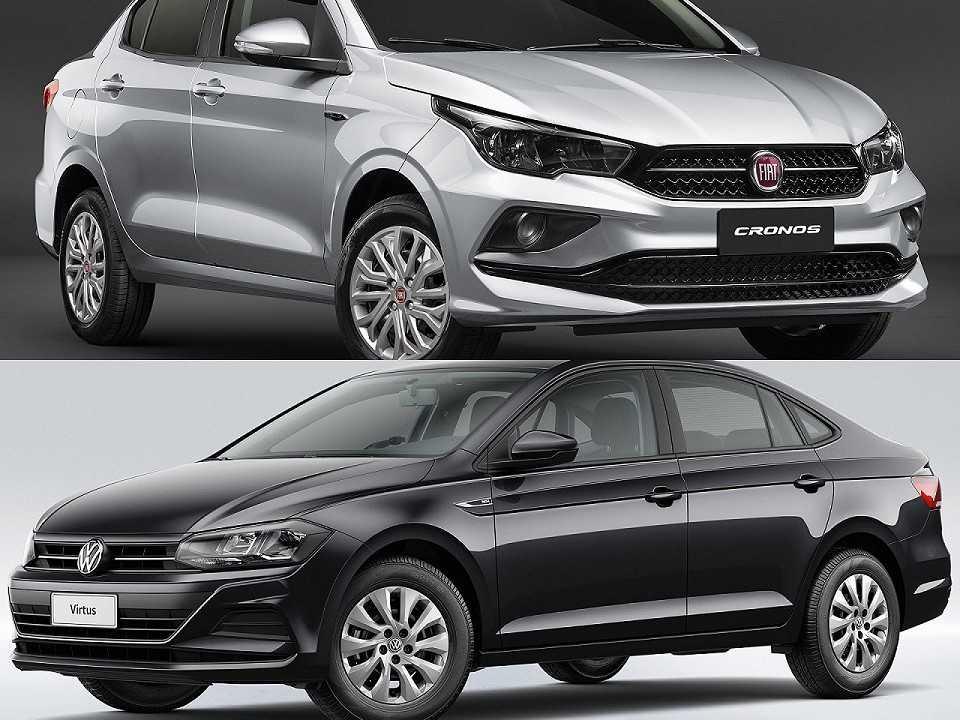 Fiat Cronos e Volkswagen Virtus