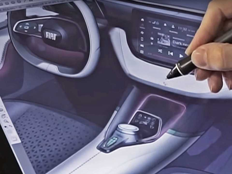 Painel do futuro SUV da FIat: elementos inéditos mas conceito que lembra o dos novos carros da marca