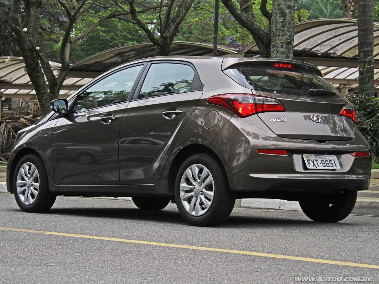HyundaiHB20 2018 - ângulo traseiro
