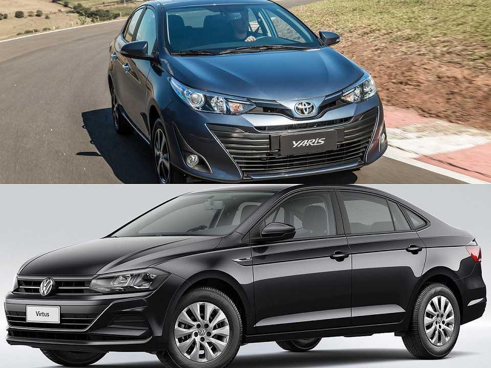 Toyota Yaris Sedã e Volkswagen Virtus