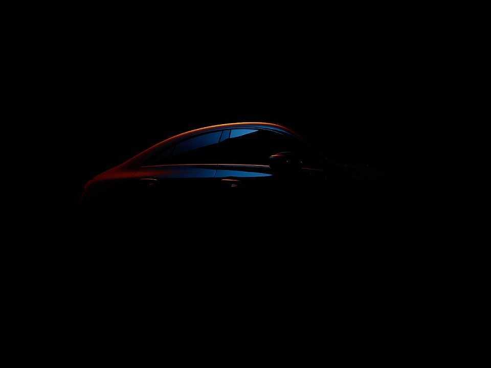 Acima o primeiro teaser da nova geração do Mercedes-Benz CLA