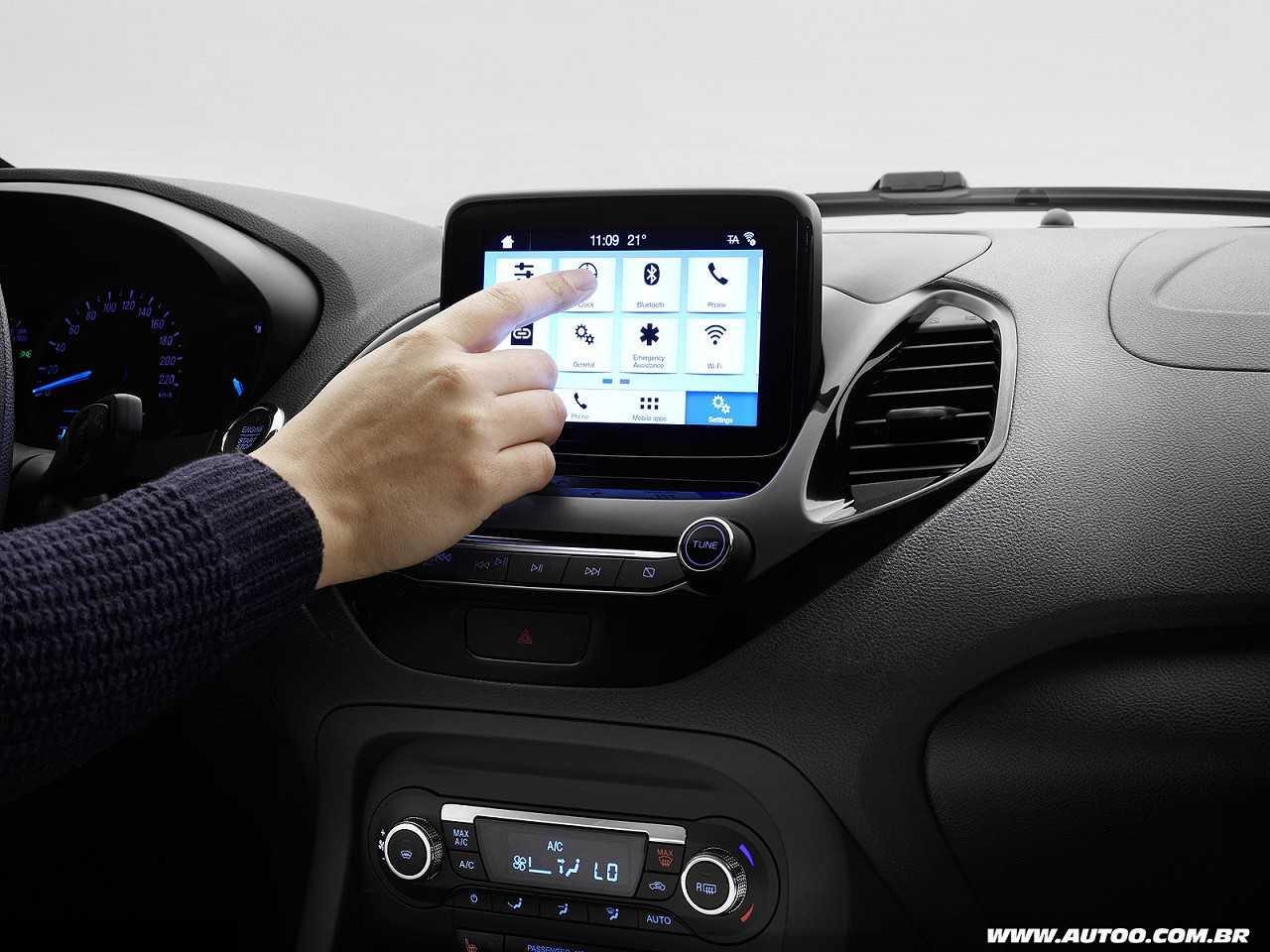 Central multimídia Sync 3 é um dos destaques do facelift do Ford Ka