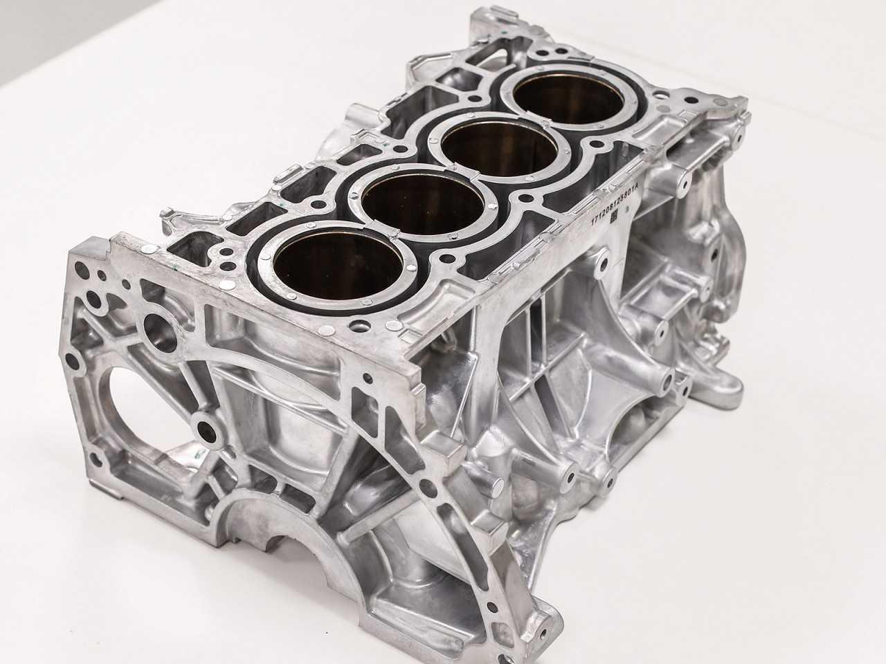 Bloco do motor 1.6 SCe que agora passa a ser fabrica pela Curitiba Injeção de Alumínio
