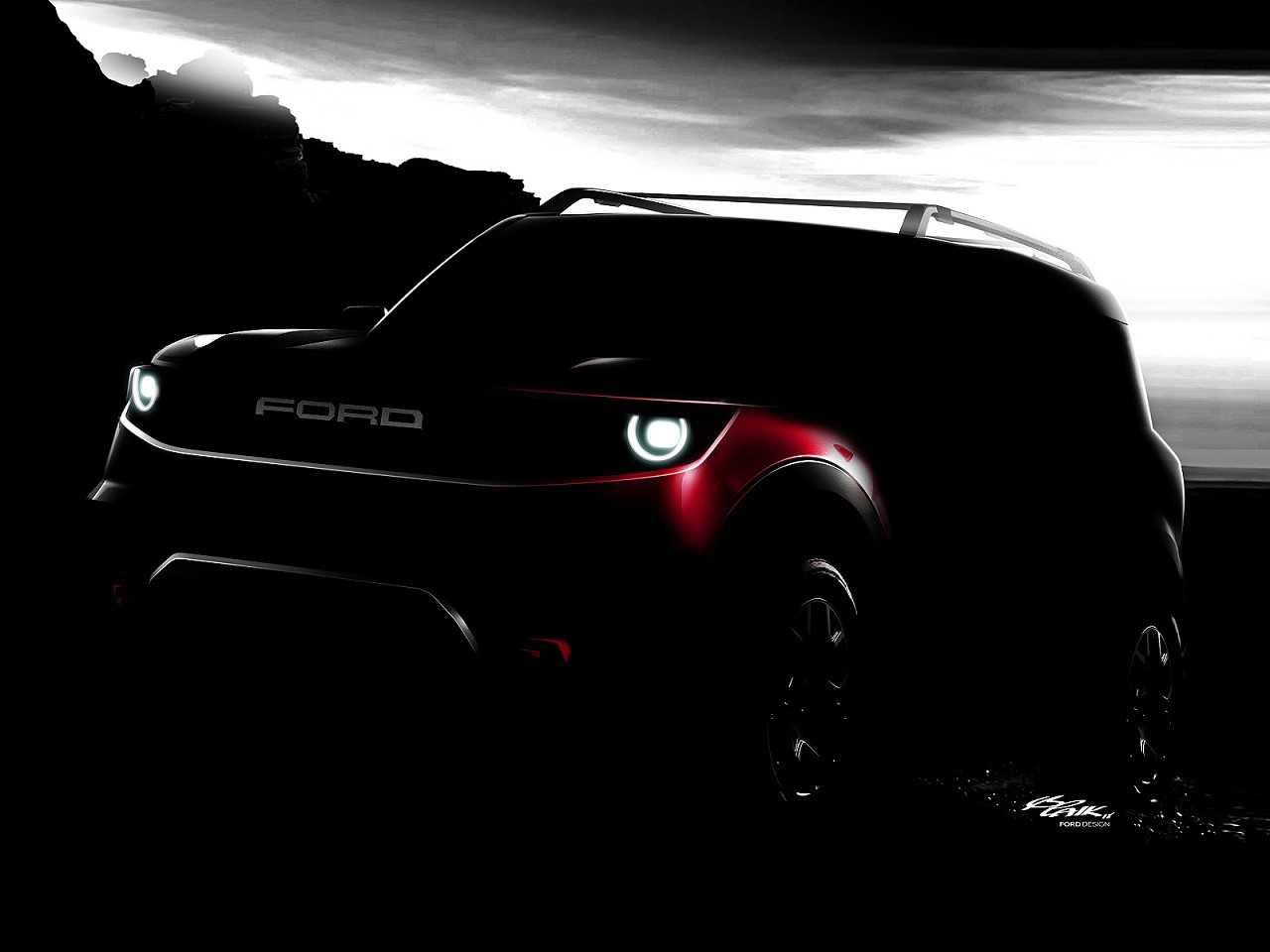 Acima uma esquete divulgada pela Ford que muito provavelmente antecipa a nova geração do Bronco nos EUA