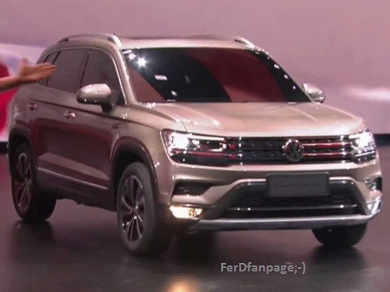 Acima o novo SUV médio que a VW desenvolve na China e será fabricado na Argentina para abastecer a América do Sul