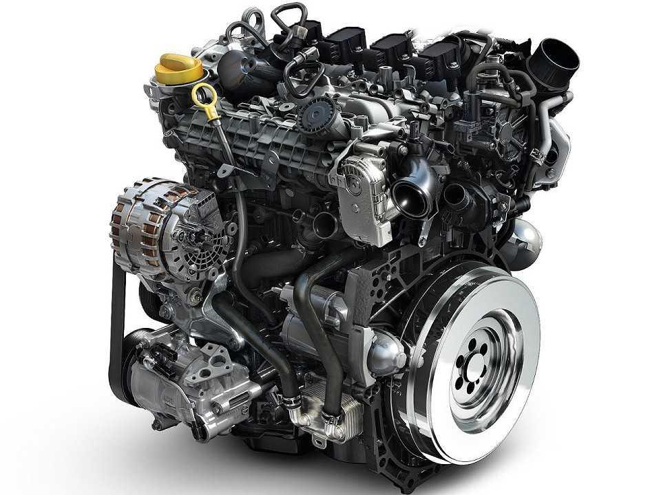 O compacto motor 1.3 TCe, com turbo e injeção direta, revelado na edição 2018 do Salão de Genebra