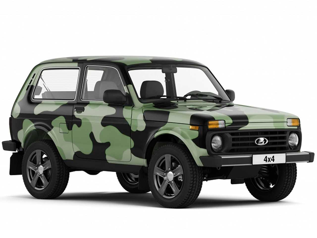 Lada 4x4 e sua opção de pintura camuflada, uma das novidades da linha 2018 do jipe