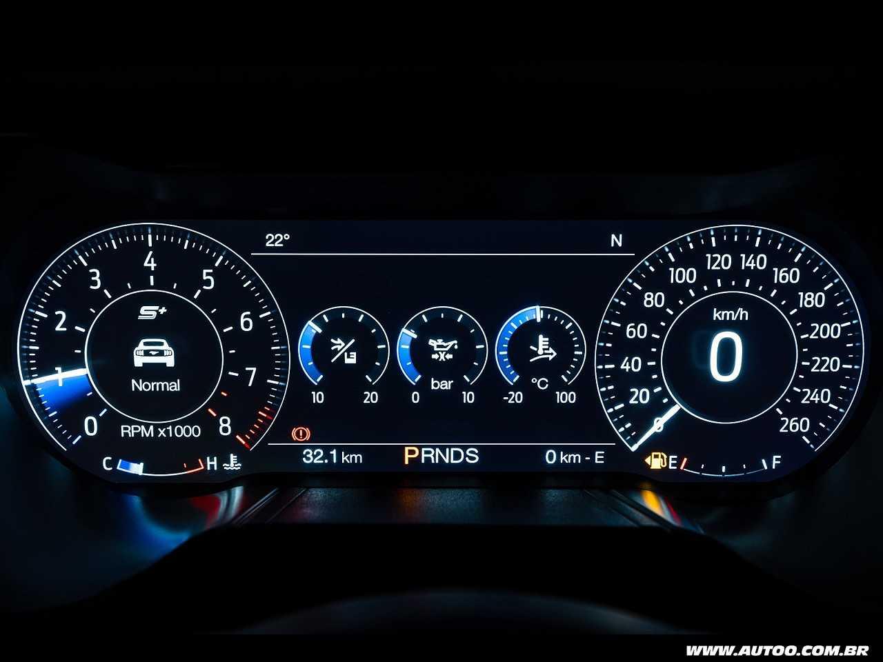 FordMustang 2018 - painel de instrumentos